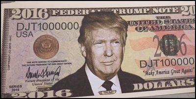 Dólar Donald Trump
